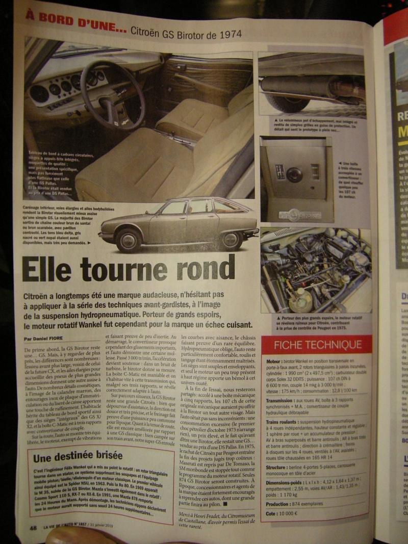 Citroën M35 et GS Birotor : il n'y a pas que Mazda qui a vendu du rotatif! Dscn0011