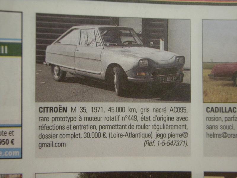 Citroën M35 et GS Birotor : il n'y a pas que Mazda qui a vendu du rotatif! Dscn0910