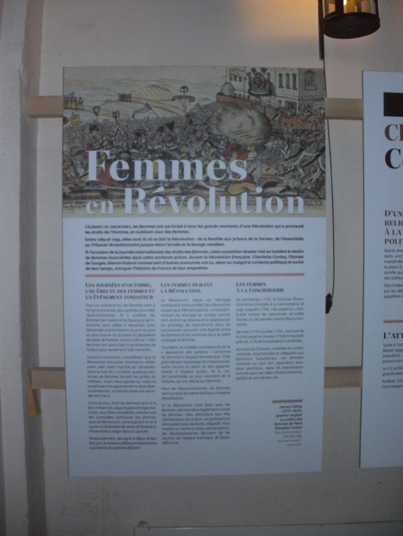 Exposition à la Conciergerie : Femmes en Révolution Pict4710