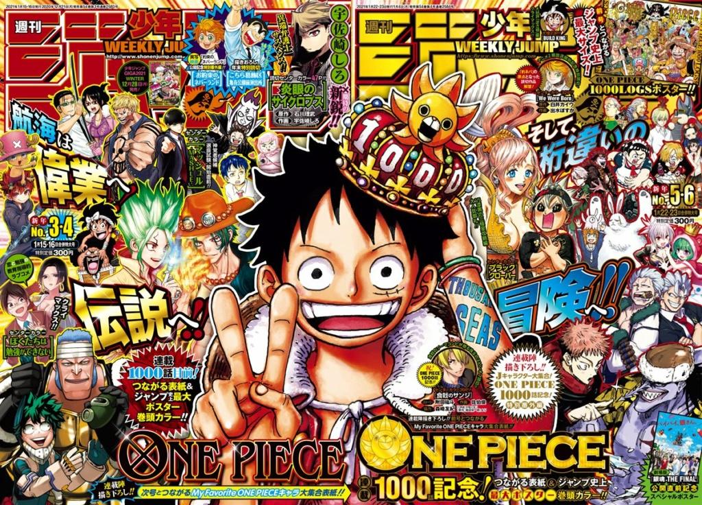 Feier zum 1000. Kapitel One Piece Coverj10