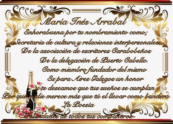 ENHORABUENA MARÍA INES ARRABAL... A_marz10