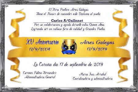 Premios de:Carlos Alberto Gallnnet Carlos13