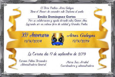 Premios de: Emilio Dominguez Cortés Emilio12