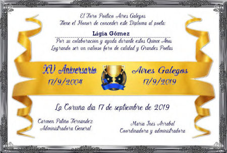 Premios de Ligia Gómez Ligia_12