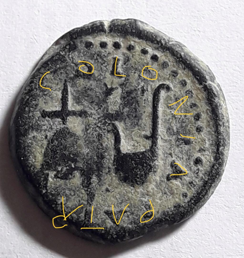 Semis de Colonia Patricia, época de Augusto. COLONIA PATRICIA. Gorro flamíneo y símpulo. E1f86d10