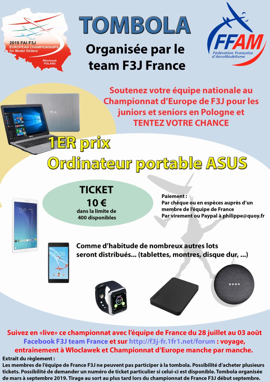Tombola équipe de France F3J 2019 Affich14