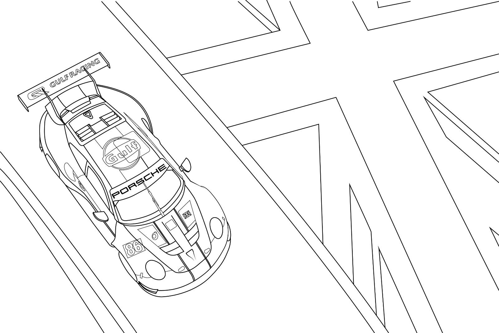 Coloriage Porsche M20_0810