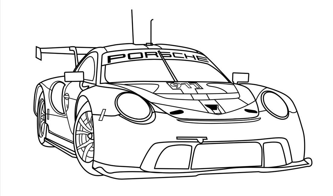 Coloriage Porsche M20_0811