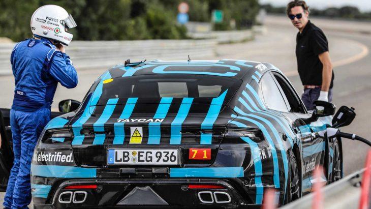 Porsche Taycan sur le Nürburgring-Nordschleife Rechar10