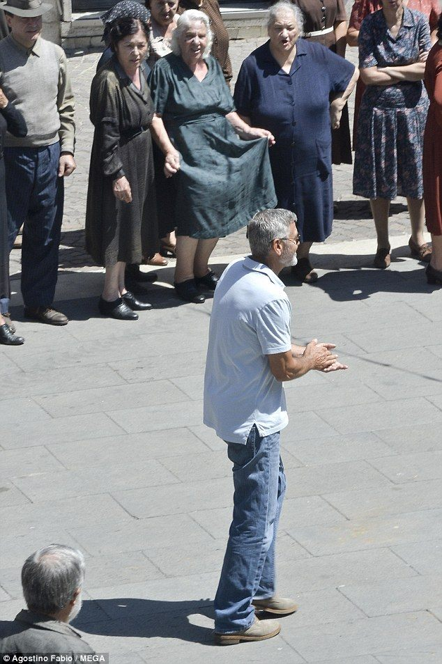 George Clooney filming in Rome 37401910
