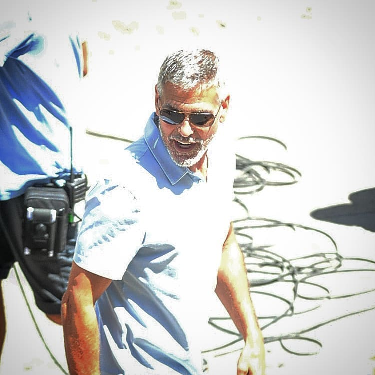 George Clooney filming in Rome Ernest10
