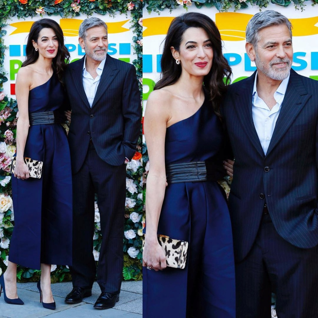 George and Amal in Edinburgh for the Postcode Lottery Gala Etalkc10
