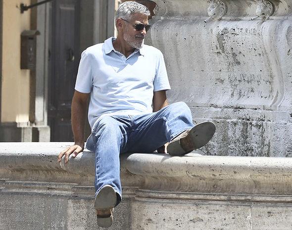 George Clooney filming in Rome George10