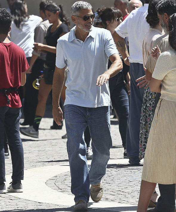 George Clooney filming in Rome George11