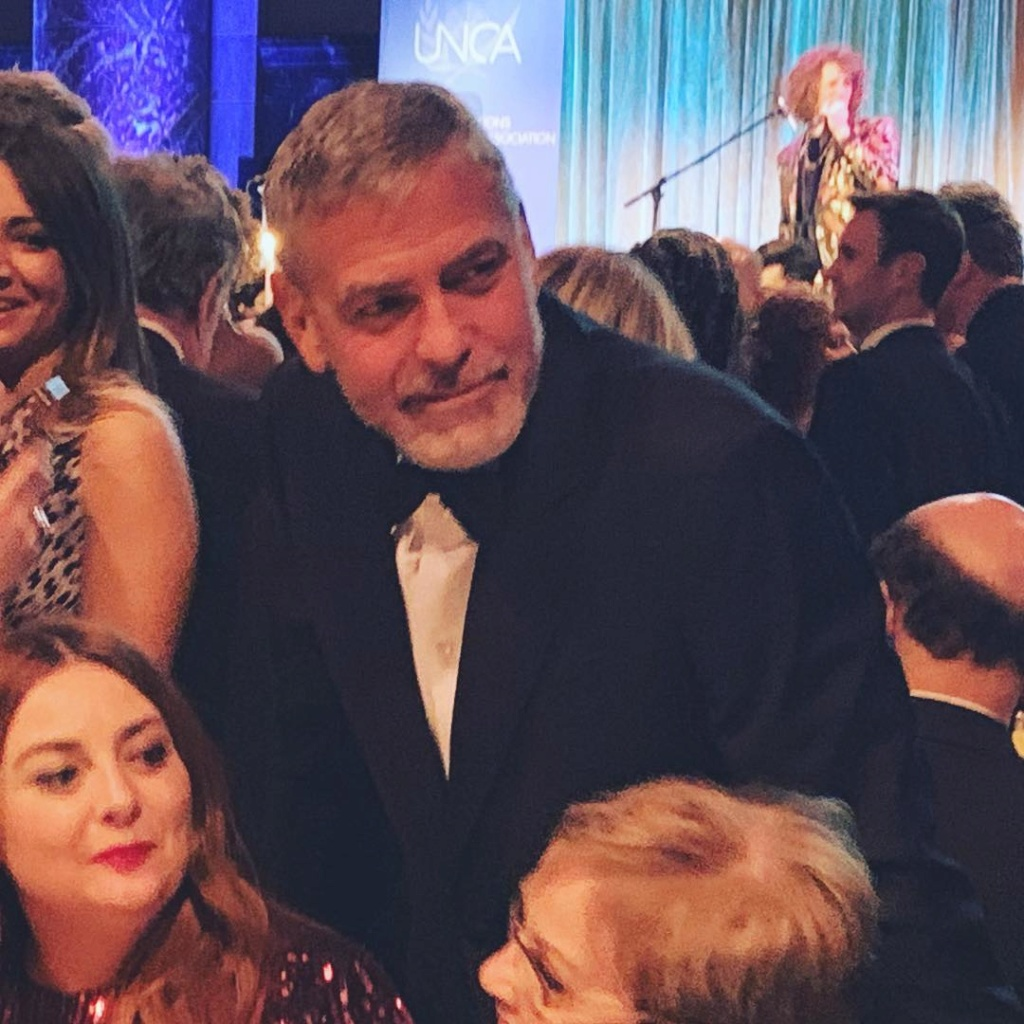 Clooney family at UN for Amal award Mamens10