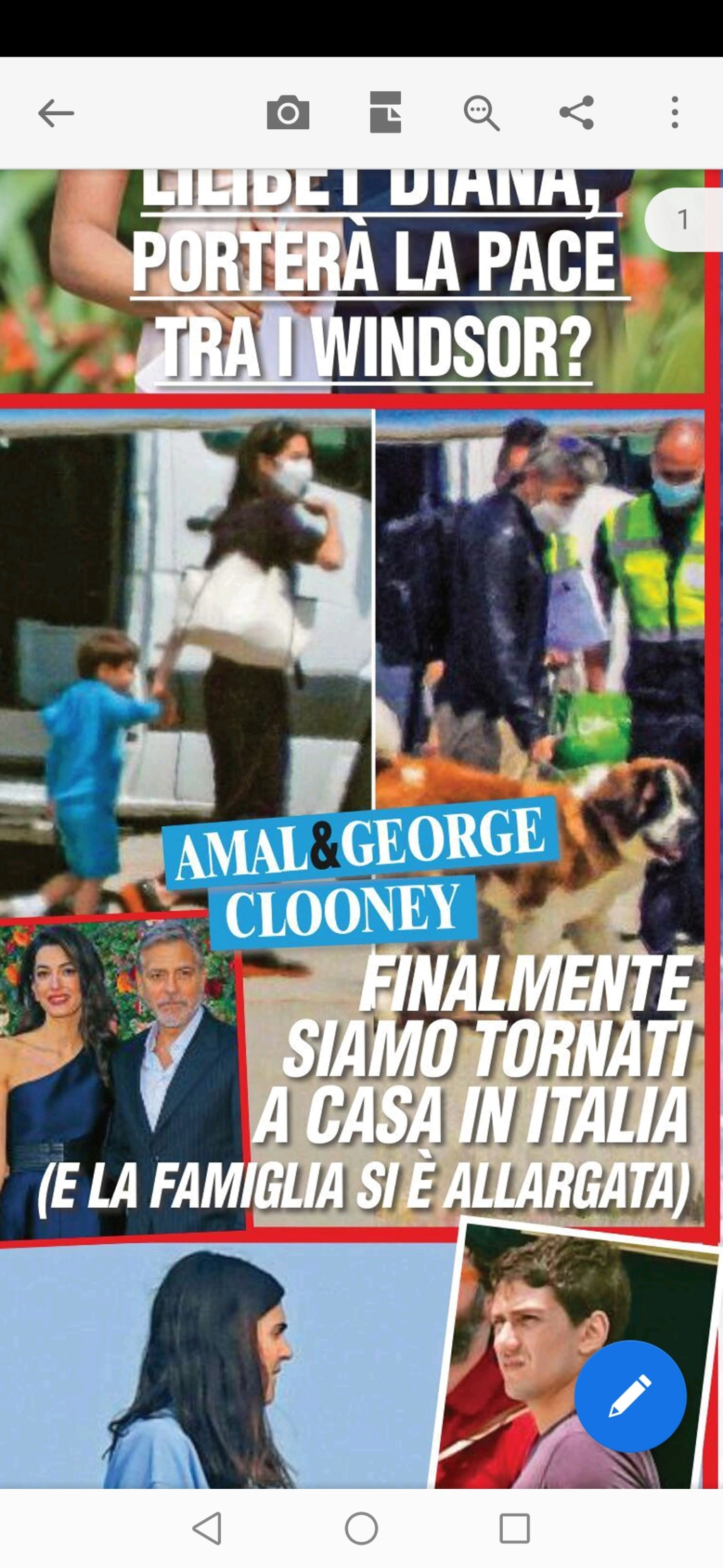 George and Amal thrilled to be back on Lake Como Screen11