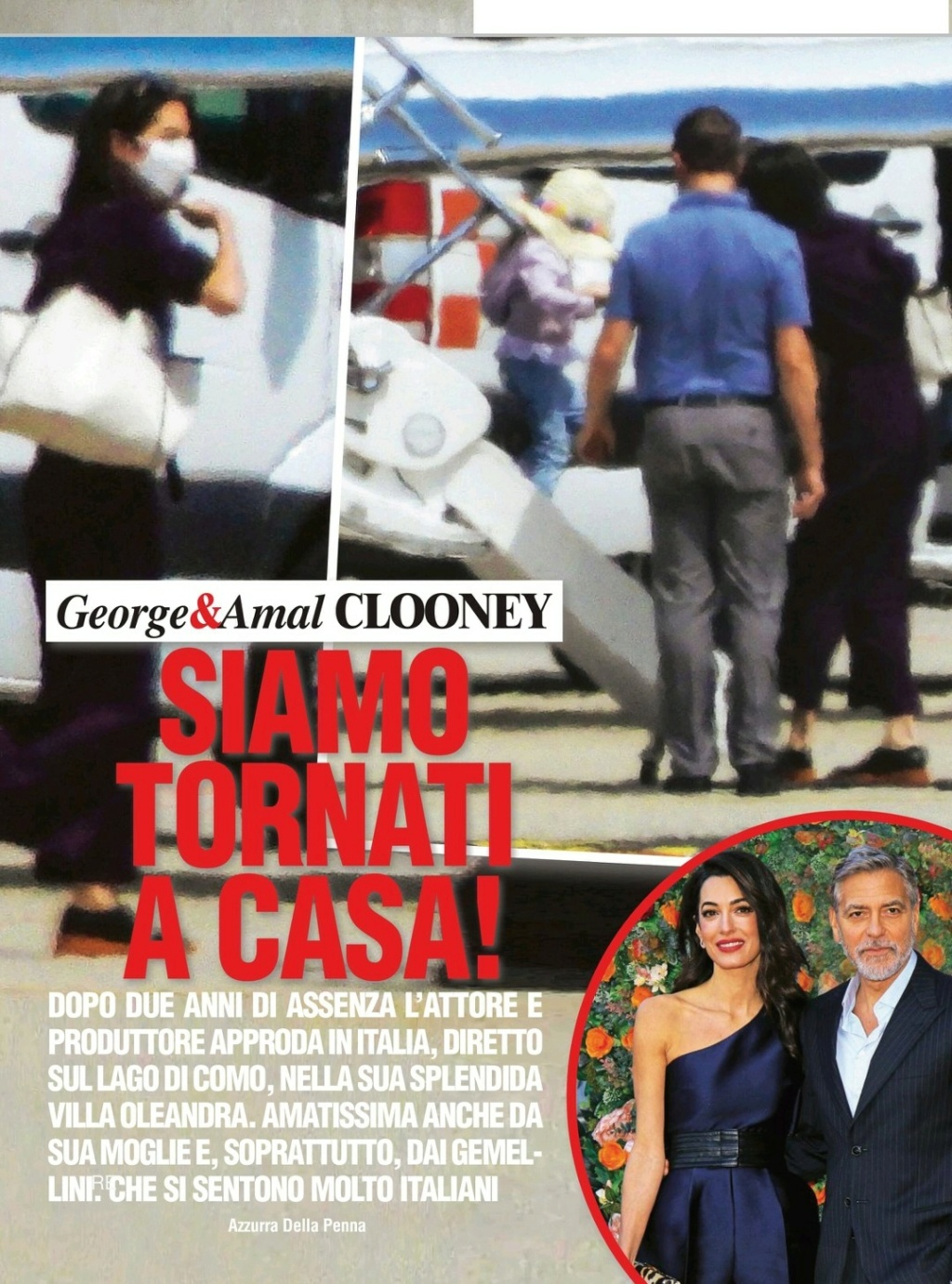 George and Amal thrilled to be back on Lake Como Screen13