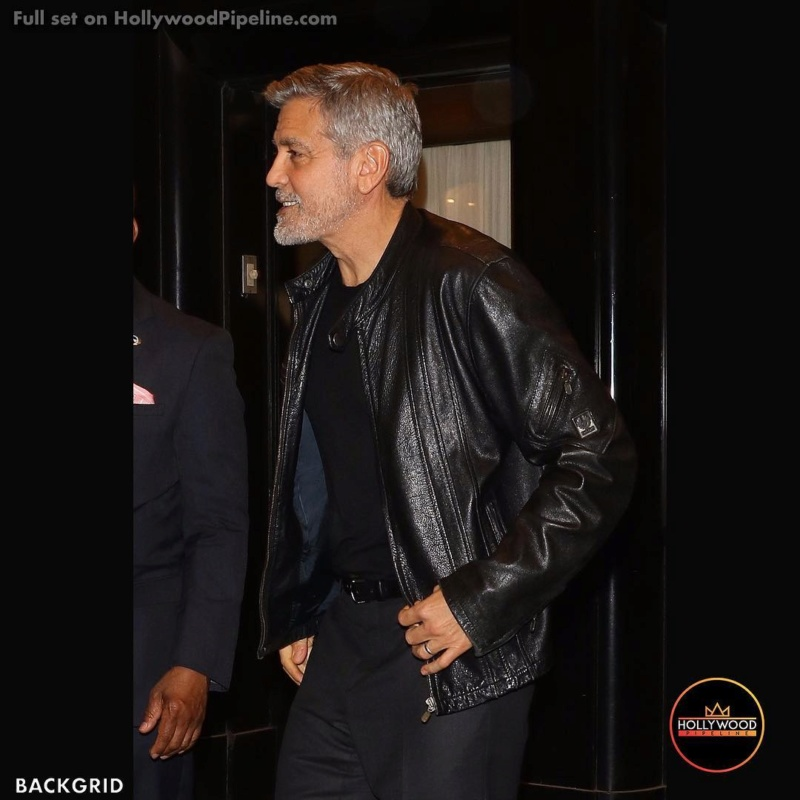 George clooney talking to Martin  Scorsese in New York  Thehol10