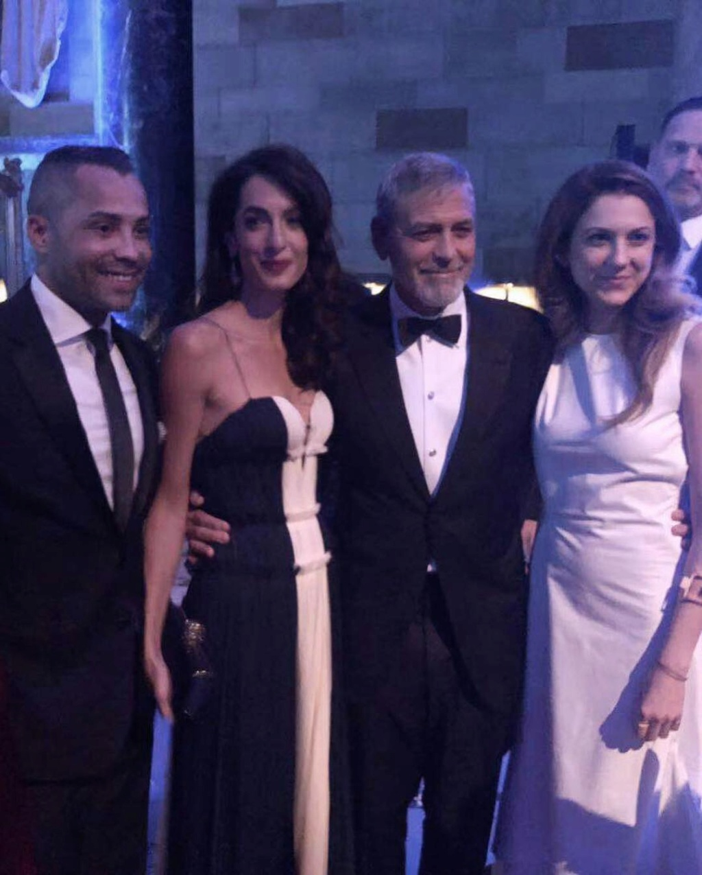 Clooney family at UN for Amal award Ycw02810