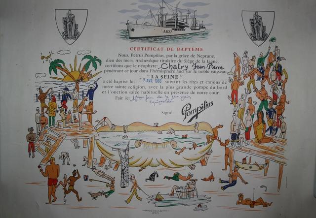 [ Les traditions dans la Marine ] LE PASSAGE DE LA LIGNE - ÉQUATEUR (Sujet unique) - Page 14 1966_p10