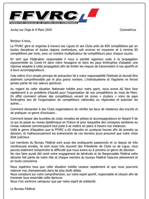 Actualité Covid19 - Suspension courses FFVRC Captur11