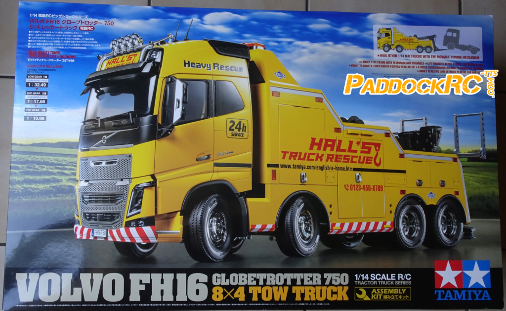 Camion Tamiya Volvo FH16 Globetrotter 750 8X4  Tow Truck 1/14 Imageo16