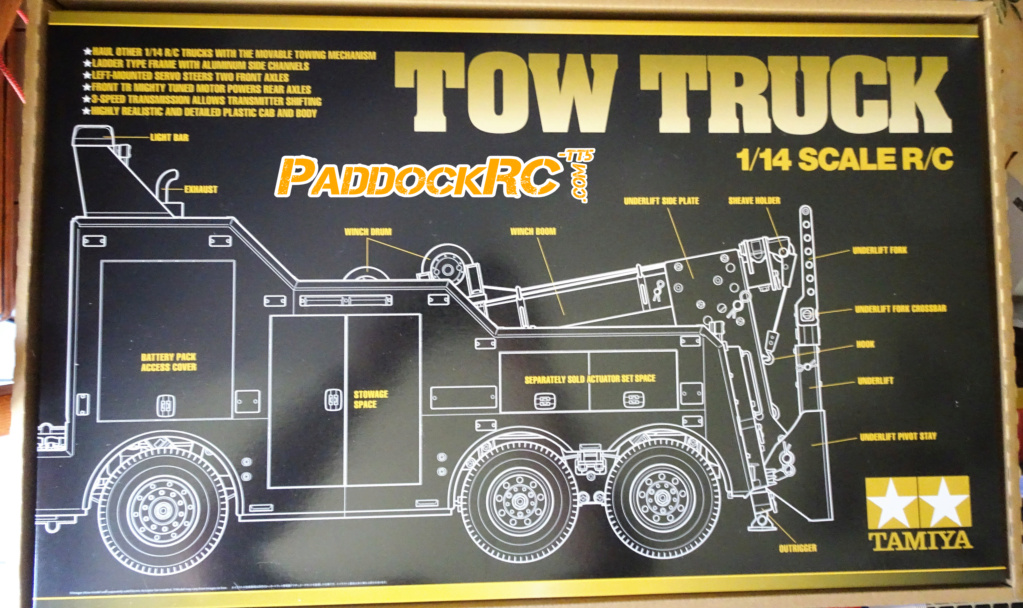 Camion Tamiya Volvo FH16 Globetrotter 750 8X4  Tow Truck 1/14 Imageo17