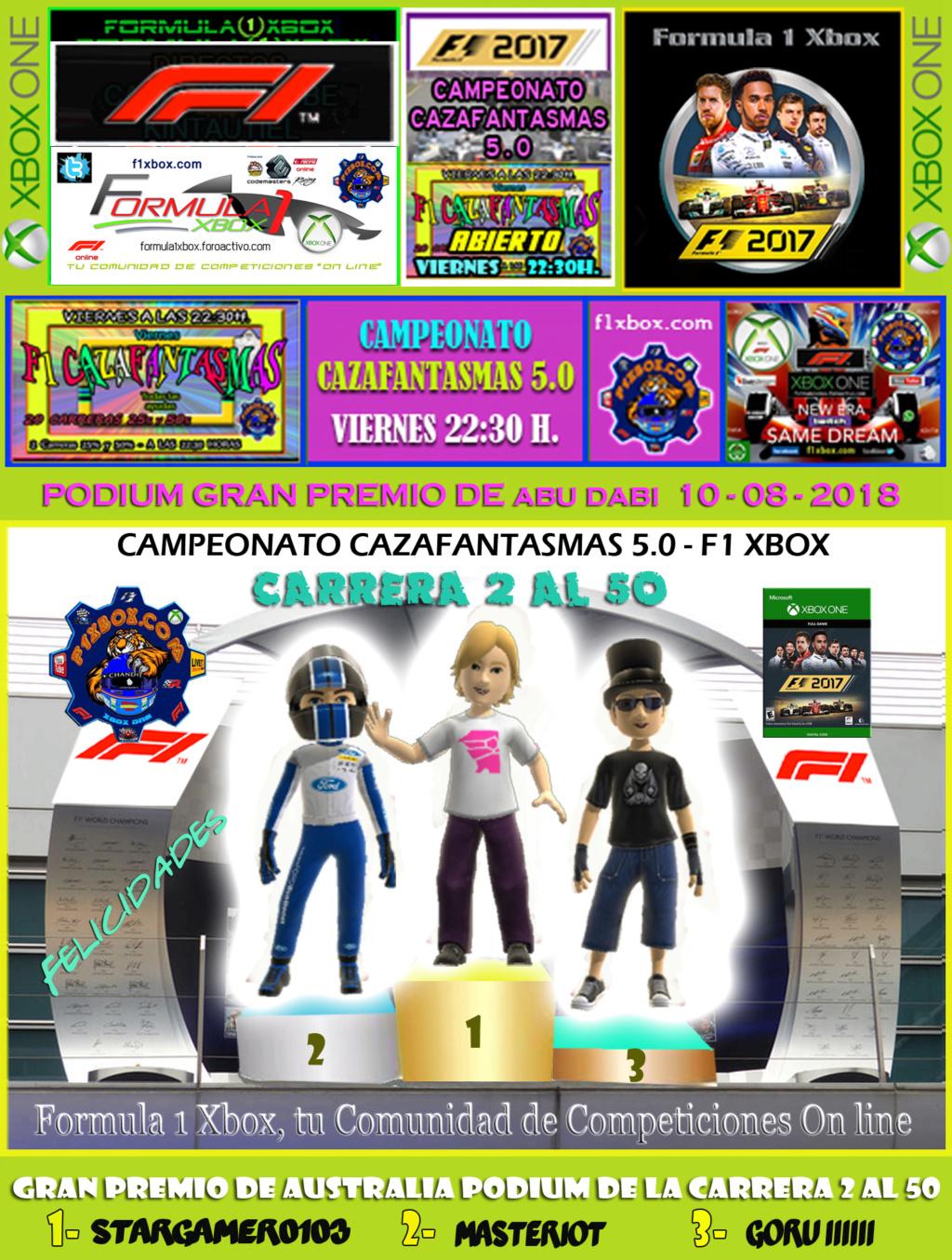 F1 2017 - XBOX ONE / CAMPEONATO CAZAFANTASMAS 5.0 - F1 XBOX / RESULTADOS Y PODIUMS DE LAS 2 CARRERAS EN ABU DABI EL VIERNES 10- 08 - 20  2_al_510