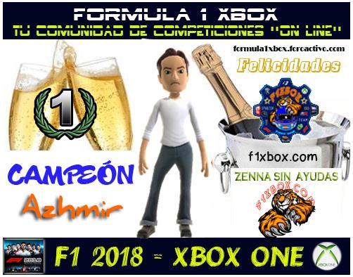 ¡ CAMPEÓN ! / F1 2018 / CAMPEONATO ZENNA SIN * SIN AYUDAS * - F1 XBOX / CAMPEÓN, RESULTADO, PODIUM, CALENDARIO Y CLASIFICACIÓN FINAL.  41497310