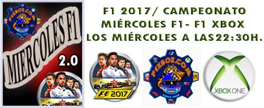 ¡ CAMPEÓN ! / F1 2017 / CAMPEONATO MIÉRCOLES F1- 2.0 - F1 XBOX / CAMPEÓN, PODIUM, CALENDARIO Y CLASIFICACIÓN FINAL.  Cabece10