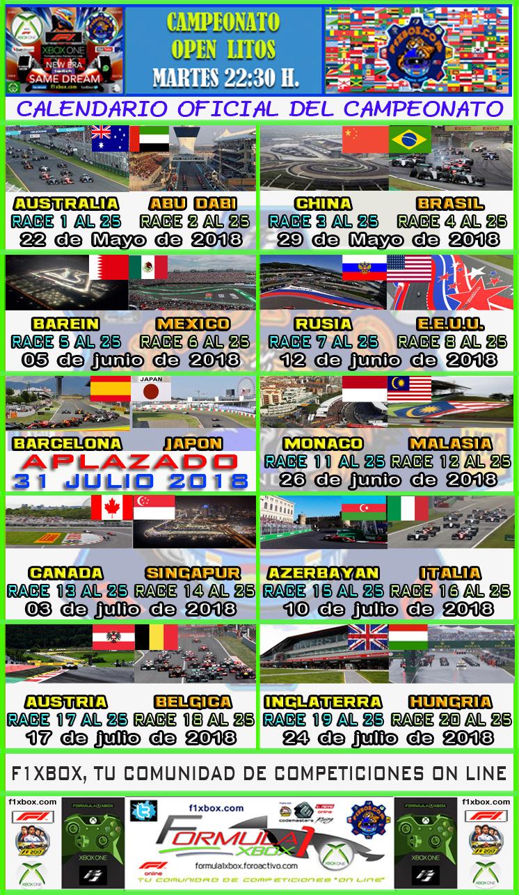 ¡ CAMPEÓN ! / F1 2017 / CAMPEONATO LITOS OPEN - F1 XBOX / CAMPEÓN, PODIUM,  Calend23