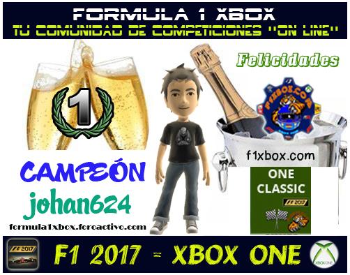 ¡ CAMPEÓN ! / F1 2017 / CAMPEONATO ONE CLASSIC - F1 XBOX / CAMPEÓN, PODIUM, CALENDARIO Y CLASIFICACIÓN FINAL.  F1-pod10