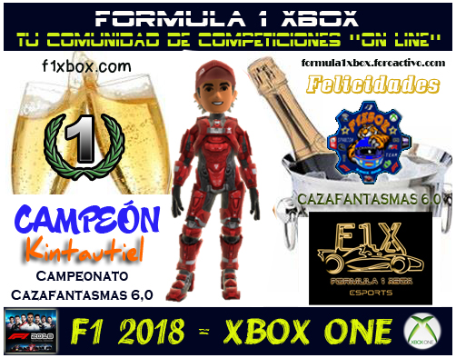 ¡ CAMPEÓN ! *** F1 2018 - XBOX ONE *** CAMPEONATO CAZAFANTASMAS 6.0 - F1X / CAMPEÓN, RESULTADO, PODIUM, CALENDARIO Y CLASIFICACIÓN FINAL.  F1-pod21