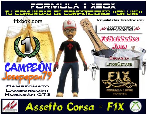 ¡ CAMPEÓN ! *** ASSETTO CORSA - XBOX ONE *** CAMPEONATO LAMBORGUINI HURACÁN GT3 - F1X / CAMPEÓN, RESULTADO, PODIUM, CALENDARIO Y CLASIFICACIÓN FINAL.  F1-pod23