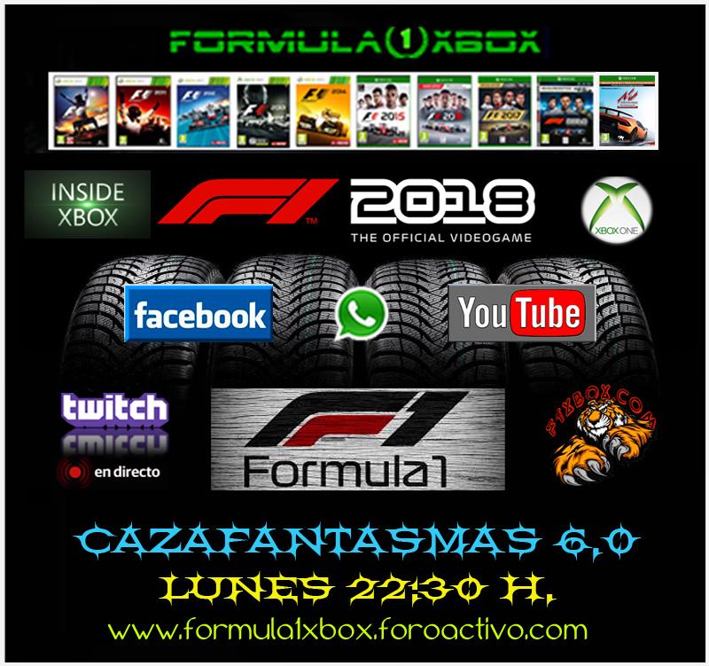 XBOX ONE - F1 2018 / CAMPEONATO CAZAFANTASMAS 6.0 - F1 XBOX / TODAS LAS AYUDAS - ABIERTA - TRANSPARENTE / CARACTERÍSTICAS / CONFIGURACIÓN / COMIENZA EL LUNES 15-10-20 Johan20