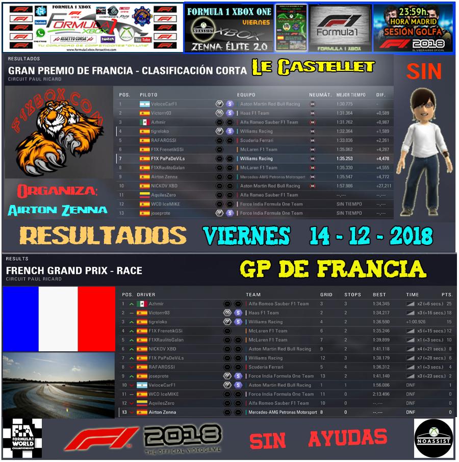F1 2018 *** CAMPEONATO ZENNA ÉLITE 2.0 - F1X *** SIN AYUDAS *** VIERNES 23:59 HORA MADRID *** RESULTADOS Y PODIUM  GP DE FRANCIA / 14-12-2018 . Result39
