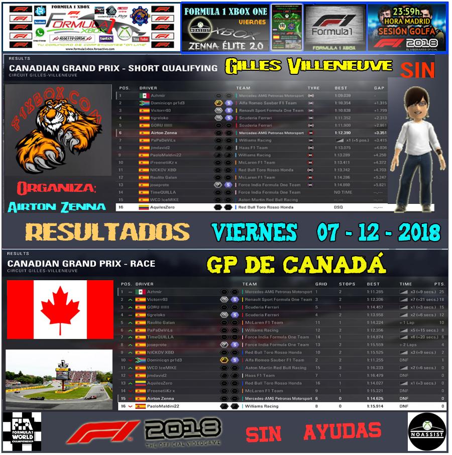 F1 2018 *** CAMPEONATO ZENNA ÉLITE 2.0 - F1 XBOX *** SIN AYUDAS *** VIERNES 23:59 HORA MADRID *** RESULTADOS Y PODIUM  GP DE CANADÁ / 07-12-2018 . Result40
