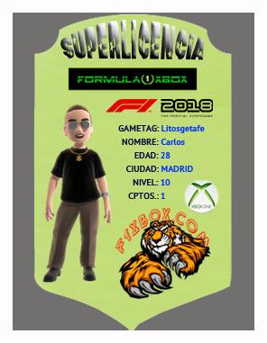 F1 2018 *** CONFIRMACIÓN DE ASISTENCIA A LAS PRUEBAS PARA SELECCIÓN DE PILOTOS APEX vs F1 XBOX *** MARTES  23 - 10 - 2018 *** GP ESPAÑA - CIRCUITO DE BARCELONA *** Superl10