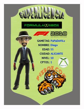 F1 2018 *** CONFIRMACIÓN DE ASISTENCIA A LAS PRUEBAS PARA SELECCIÓN DE PILOTOS APEX vs F1 XBOX *** MARTES  23 - 10 - 2018 *** GP ESPAÑA - CIRCUITO DE BARCELONA *** Superl11