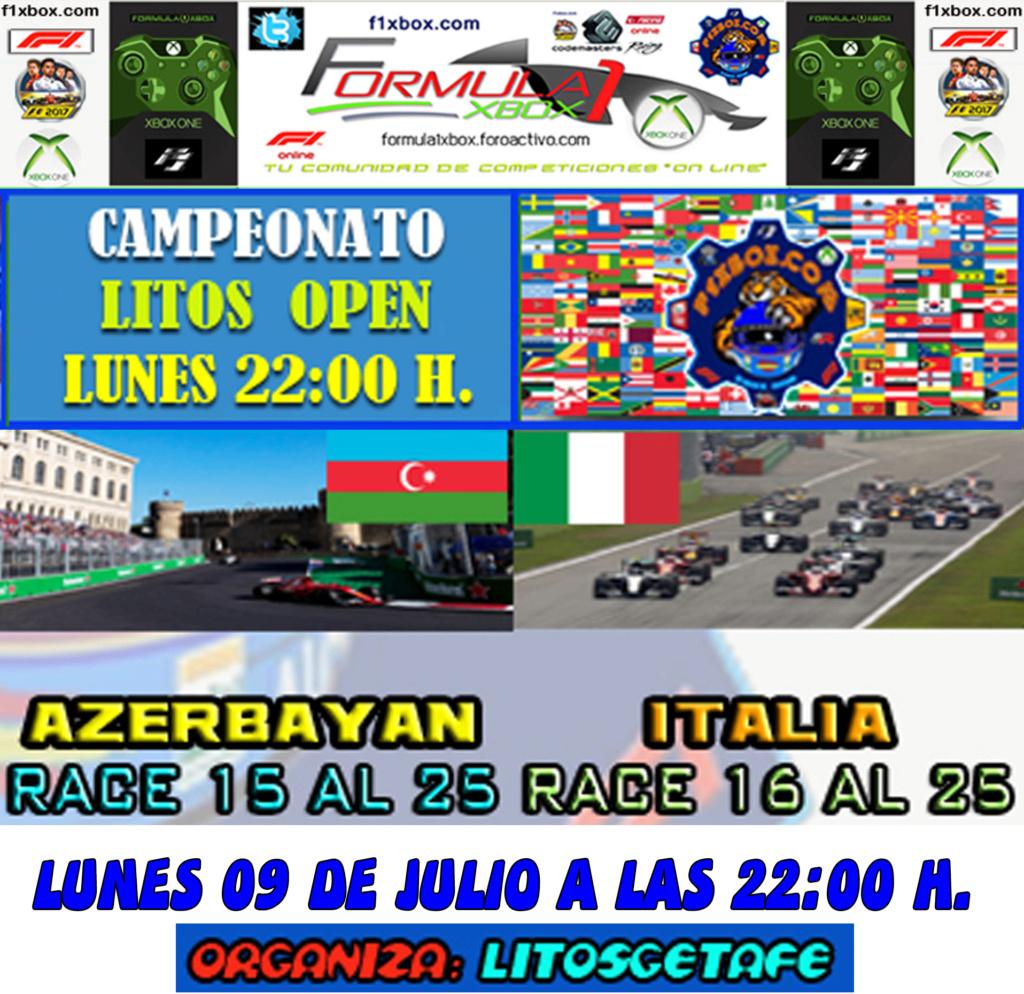 F1 2017 - XBOX ONE / CAMPEONATO LITOS OPEN - F1 XBOX / CONFIRMACIÓN DE ASISTENCIA G.P. DE AZERBAYAN Y ITALIA /  LUNES 09 - 07 - 2018 / A LAS 22:00 H. Zzzzzz12