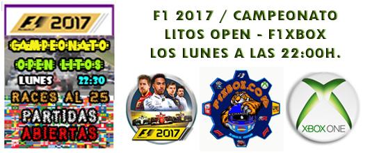 ¡ CAMPEÓN ! / F1 2017 / CAMPEONATO LITOS OPEN - F1 XBOX / CAMPEÓN, PODIUM,  Zzzzzz14
