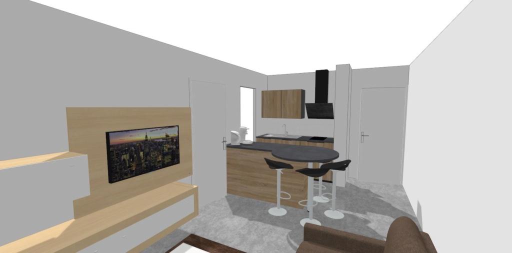 Rénovation cuisine / optimisation cellier dans un appart T2 + décoration 110