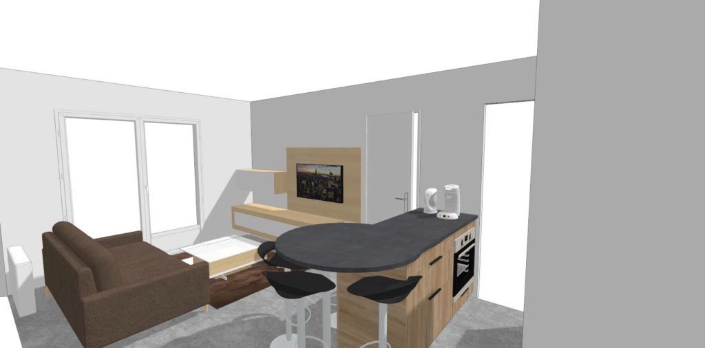 Rénovation cuisine / optimisation cellier dans un appart T2 + décoration 210