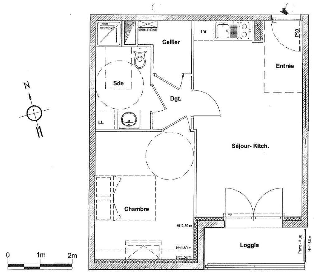 Rénovation cuisine / optimisation cellier dans un appart T2 + décoration Plan_a10