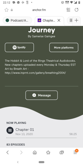 Podcast/Audiobook The hobbit and Lors of the rings Screen16