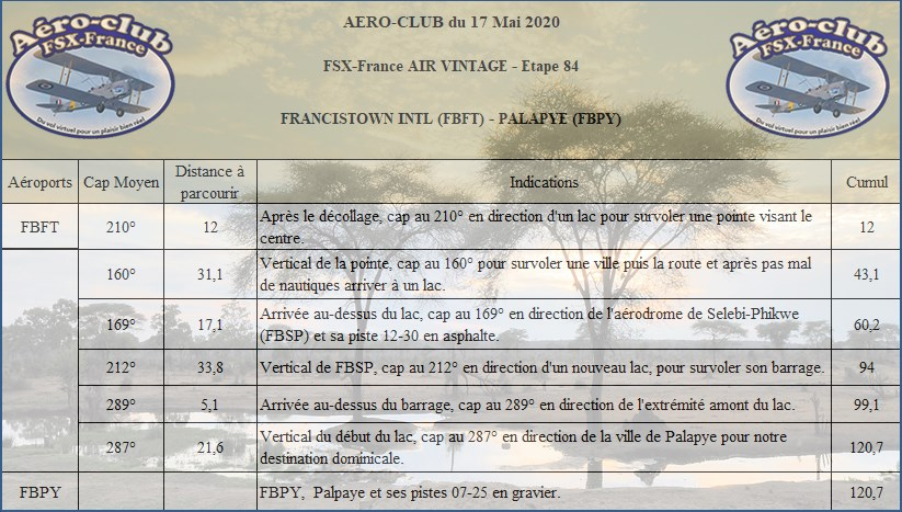 FSX-France Air Vintage Etape 84 Nav24513