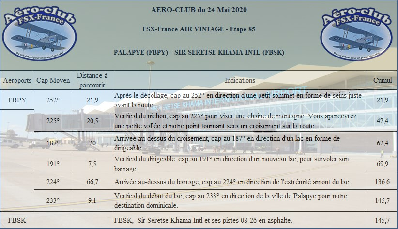 FSX-France Air Vintage Etape 85 Nav24612