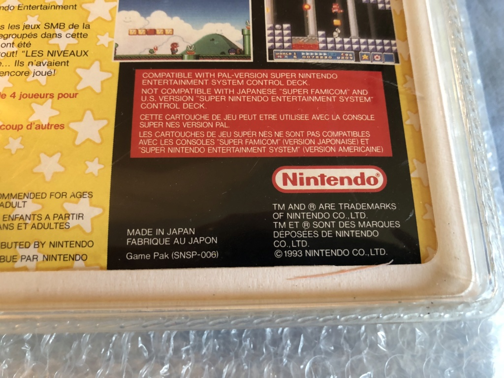 Authenticité super mario all stars blister rigide 13712b10