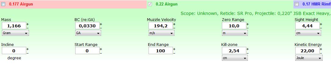 Calcul de la chute jsb heavy  2210