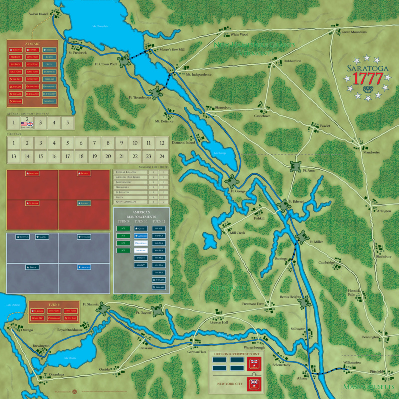 [CR] Saratoga 1777 (Worthington Games) Sarato10